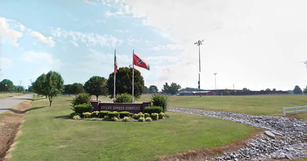 Kelley Sports Complex welcome sign