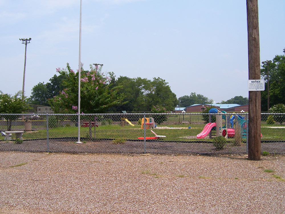 The fenced playground at Edwards Park.